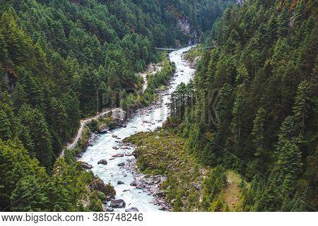 Bhote-khosi River Valley, Nepal. Way To Sagarmatha National Park