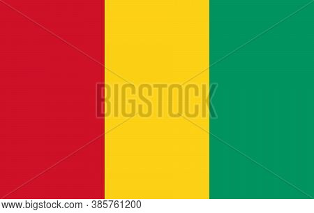 Guinea Flag, National Guinean Official Colors And Proportion Correctly. Vector.