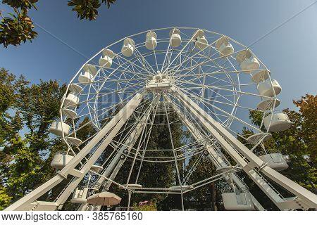 Ferris Wheel In Bardolino In Italy
