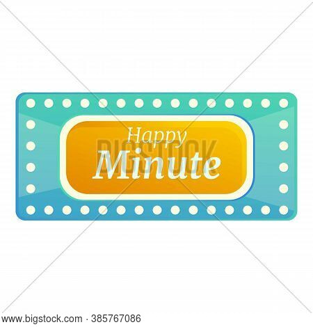 Happy Minute Lottery Icon. Cartoon Of Happy Minute Lottery Vector Icon For Web Design Isolated On Wh