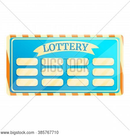 Lottery Bet Icon. Cartoon Of Lottery Bet Vector Icon For Web Design Isolated On White Background