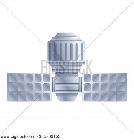 Solar Panel Satellite Icon. Cartoon Of Solar Panel Satellite Vector Icon For Web Design Isolated On