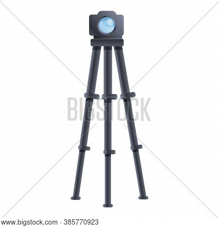 Carbon Camera Tripod Icon. Cartoon Of Carbon Camera Tripod Vector Icon For Web Design Isolated On Wh