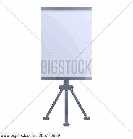Banner Tripod Icon. Cartoon Of Banner Tripod Vector Icon For Web Design Isolated On White Background
