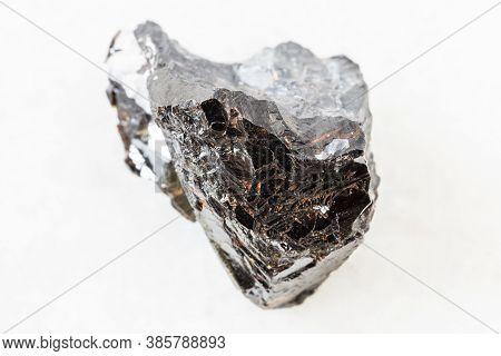 Closeup Of Sample Of Natural Mineral From Geological Collection - Unpolished Sphalerite (zink Blende