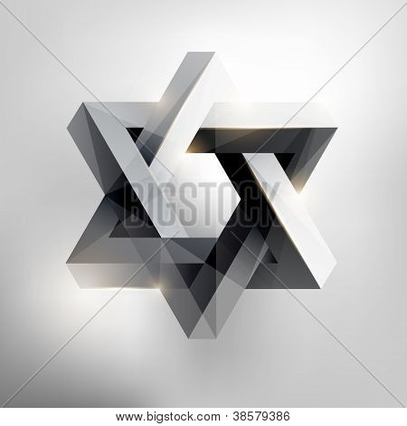 Abstract geometric form.