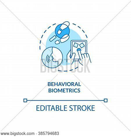 Behavioral Biometrics Concept Icon. Speech Recognition System. Biometrics Behaviour Types Ideas Idea