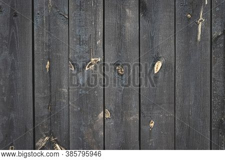 Dark Wood Background. Dark Grain Panel Board Table With Copy Space. Old Floor Wooden Pattern. Timber