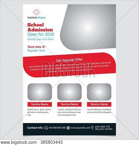School Admission Flyer Template Design And Layout