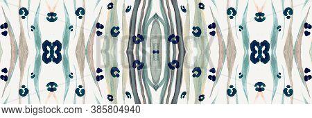 Seamless Animal Banner. Zebra Lines. Fashion Safari Print. Watercolor African Ornament. Ink Wild Rep