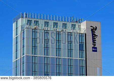 Bristol, Uk - March 10, 2015: The Radisson Blu Hotel. The Building Was Previously The Headquarters O