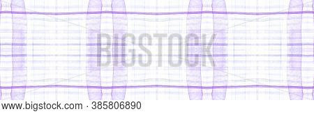 Purple Flannel Checks. Watercolour Stripes Material. Rustic Gingham Wallpaper. Seamless Flannel Chec