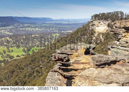 The Rocks At Hassans Walls In The Central Tablelands Near Lithgow In Regional New South Wales In Aus