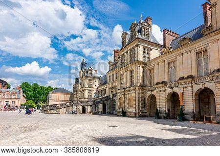 Fontainebleau Palace (chateau De Fontainebleau) In France
