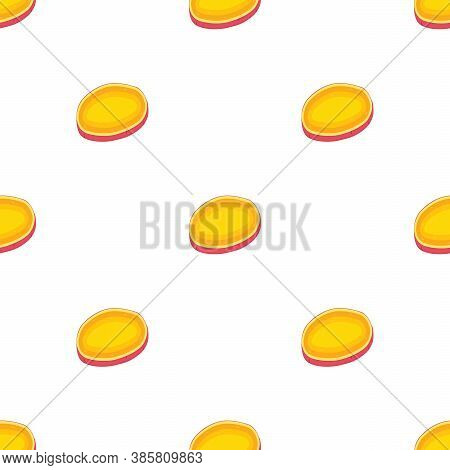 Illustration On Theme Of Bright Pattern Sweet Potato, Vegetable Yam For Seal. Vegetable Pattern Cons
