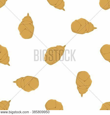 Illustration On Theme Of Bright Pattern Jerusalem Artichoke, Root For Seal. Root Pattern Consisting