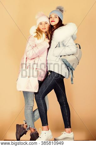 Winter Dreaming. Women In Padded Coat. Christmas. Flu And Cold. Seasonal Shopping. Winter Clothing F