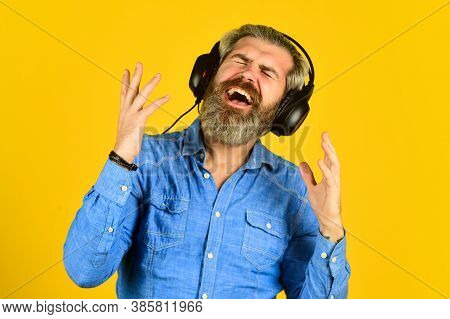 My Favorite Song. Enjoy Excellent Sound Song In Earphones. Good Mood Playlist. Man With Headset. Bea