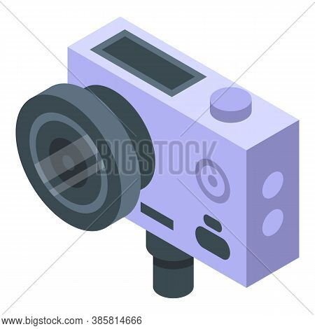 Professional Action Camera Icon. Isometric Of Professional Action Camera Vector Icon For Web Design