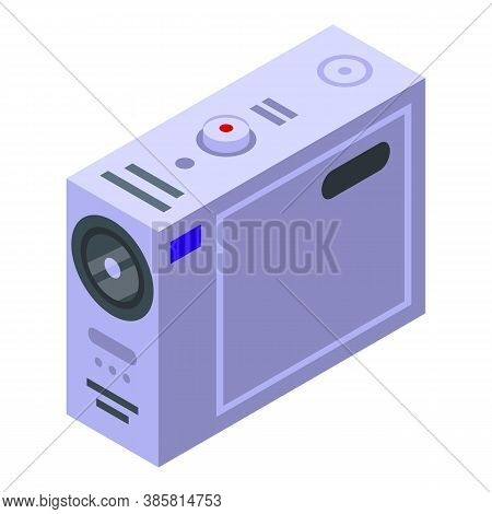 Portable Action Camera Icon. Isometric Of Portable Action Camera Vector Icon For Web Design Isolated