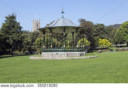 Weston-super-mare, Uk - September 10, 2015: A Cast-iron Bandstand In Grove Park. The Bandstand Dates