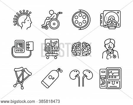 Advanced Design Healthcare And Medical  Vector Line Icons, Style 2 Vol 2, Suitable For Web, Mobile A