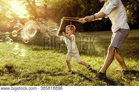 Lovely Family Spending Time Together in the Park