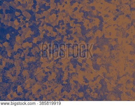 Watercolor Fashion Camouflage. Blue Khaki Fabric. Camo Wallpaper. Grunge Desert Print. Fashion Camou