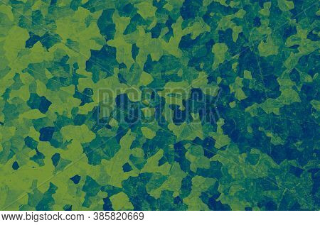 Watercolour Marine Camo. Green Military Texture. Camouflage Background. Vintage Urban Shirt. Marine