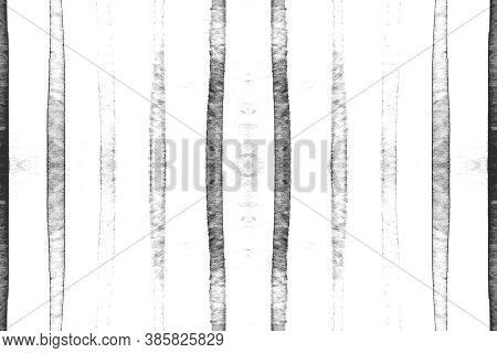 Gray Stripes Ornament. Modern Brushstroke Drawing. Color Horizontal Painting. Watercolor Stripes Pat