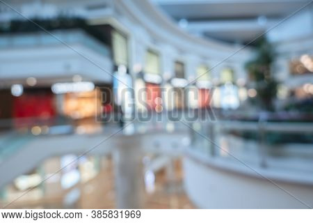 background of shopping mall in blurred, shallow depth of focus