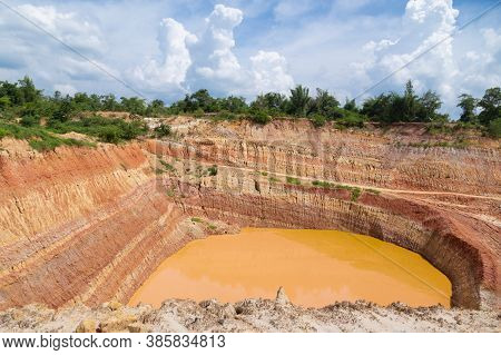 Beautiful Views Of The Bolclay Thailand Mine Dig Deep Into Layers.