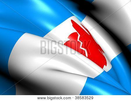 Flag Of Koryak Okrug, Russia.