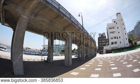 The Osanbashi Yokohama International Passenger Terminal Is A Major Port Where Foreign Cruise Ships D