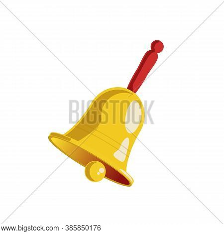 Ringing Bell Icon Isolated On White Background. Alert, Alarm, Sound, Call, Signal Concept. Simple Fl