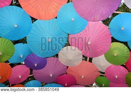 Colorful Paper Umbrella Handmade Umbrella, Colorful Umbrellas Background