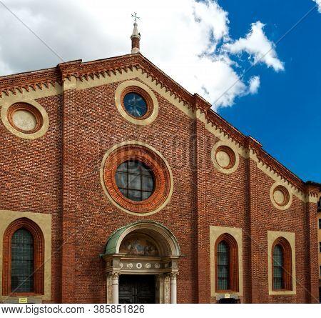 Church With The Last Supper By Leonardo Da Vinci In Milan