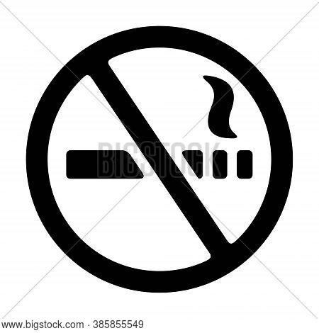 No Cigarette, No Smoking Sign Icon Illustration. Smoking Forbidden Symbol. Quit Smoking, Public Sign