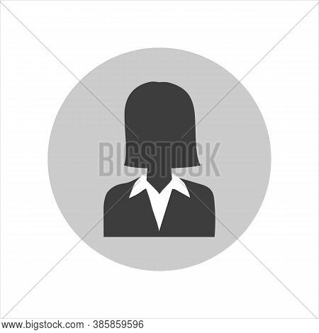 Placeholder Avatar. Female Person Default Woman Avatar Image. Gray Profile. Face Picture Isolated On