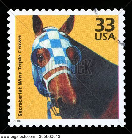 United States Of America - Circa 1999: A Postage Stamp Printed In Usa Showing An Image Of Secretaria
