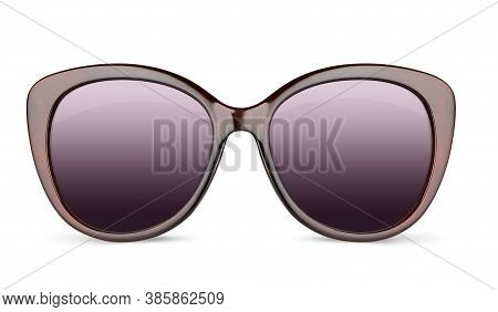 Vintage Sunglasses Isolated On White Background With Clipping Path
