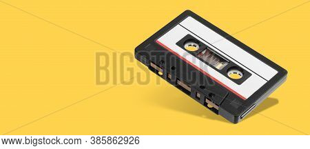 Old Black Audio Tape Compact Cassette Record