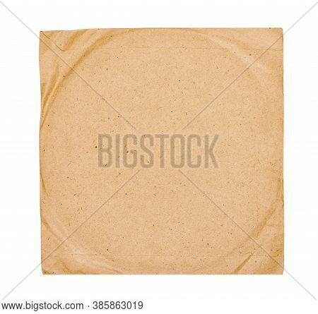 Old Vinyl Record Cover Isolated On White Background