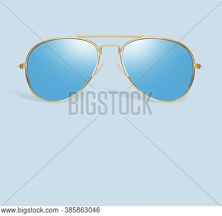 Palm Tree Reflection In Aviator Sunglasses Isolated