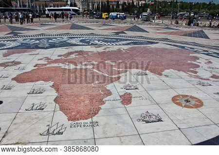 Belem, Lisbon / Portugal - 10 May 2015: Art Monument In Belem, Lisbon City, Portugal