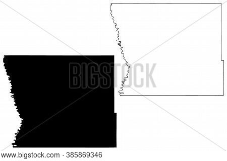 Kittson County,  Minnesota (u.s. County, United States Of America, Usa, U.s., Us) Map Vector Illustr