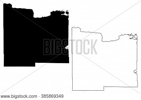 Koochiching County,  Minnesota (u.s. County, United States Of America, Usa, U.s., Us) Map Vector Ill