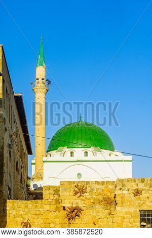 View Of The Al-jazzar Mosque, In The Old City Of Acre (akko), Israel