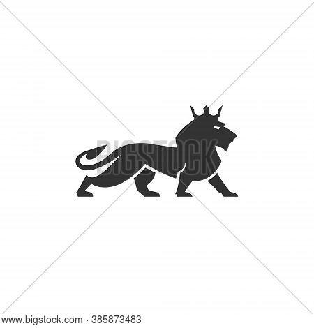 Lion Logo Wild Animal Head King Wildlife Predator Cat Strength Carnivore Zoo Power Leo Mascot Safety