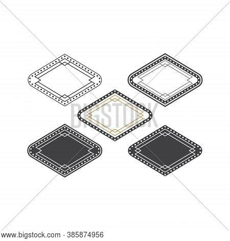 Casino Badge Set Bundle Diamond Shape Illustration Design - Play Symbol Game Poker Game Las Vegas Ga